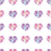 Geometric hearts — Stock Vector