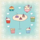 Petits gâteaux — Vecteur