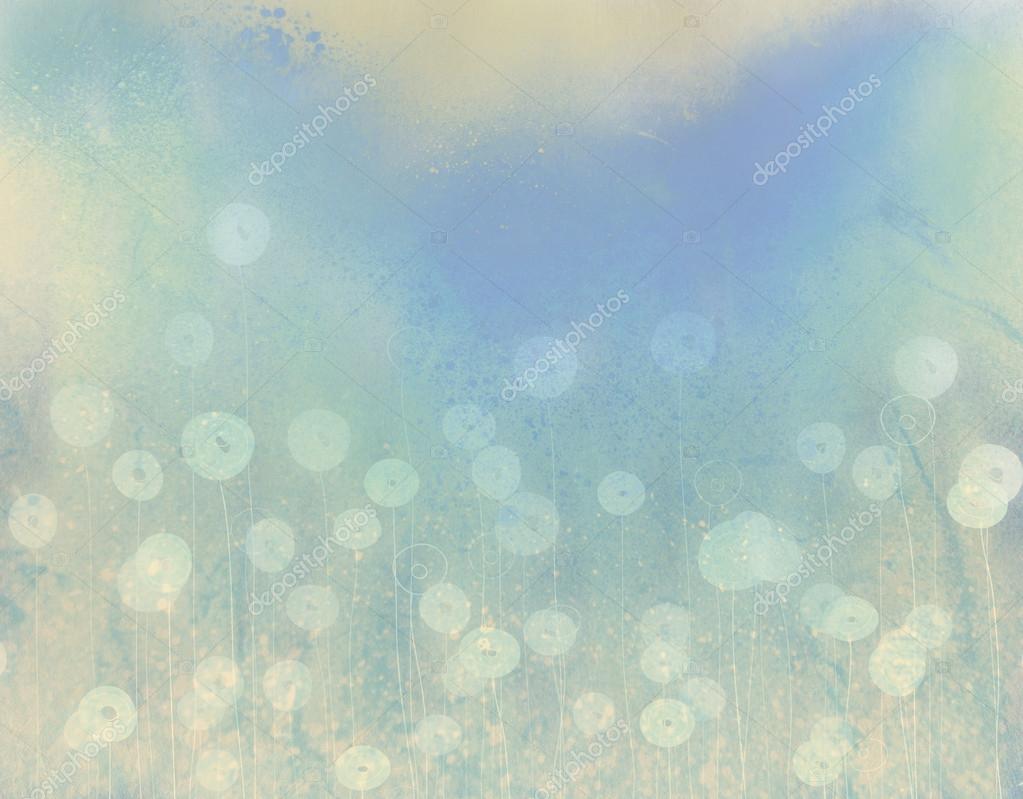 软的水彩花卉.抽象的装饰背景.复古的风格