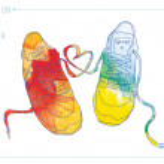 Watercolor fashion sneakers — Stock Vector #43034935