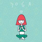 Yoga — Vetorial Stock