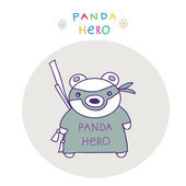 hero panda — Stock vektor
