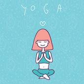 Yoga — Stock Vector