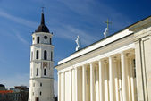 Classical cathedral with tower in Vilnius, Lithuania — Stock Photo