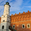 Renaissance city hall in Sandomierz, Poland - Stock Photo