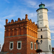 City hall in Sandomierz, Poland - Stock Photo