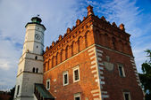 Renaissance city hall in Sandomierz — Stock Photo