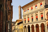 Street in the old town of Bologna, Italy — Stock Photo