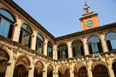 Ancient University of Bologna - main courtyard — Stock Photo