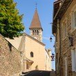 Typical French town in region Beaujolais, France — Zdjęcie stockowe #28667005