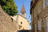 Typical French town in region Beaujolais, France — Stock Photo