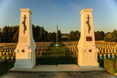French war cemetery in Picardy, France — Stock Photo