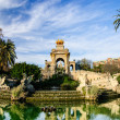 Magnificent fountain with pond in Parc de la Ciutadella, Barcelona — Stock Photo