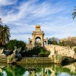 Magnificent fountain with pond in Parc de la Ciutadella, Barcelona — Stock Photo #29987335