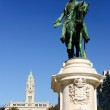 Porto city hall and monument of King Peter IV, Porto, Portugal — Stock Photo #35428219