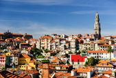 Porto cityscape with Clerigos tower, Porto, Portugal — Stock Photo