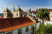 The view of the old town of Porto, Portugal — Stock Photo