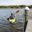 Stock Photo: Mature MKayaking for Fun and Fitness