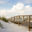 Boardwalk in the Beach Sand Dunes — Stock Photo