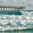 Surf's Up at Pensacola Beach Fishing Pier  — Stock Photo