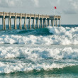 Surf's Up at Pensacola Beach Fishing Pier — Stock Photo #33091603