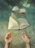Reach For A Book  — Stock Photo