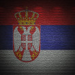 Serbian flag wall, abstract grunge background — Stock Photo
