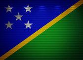 Solomon adaları bayrağı duvar, arka plan — Stok fotoğraf