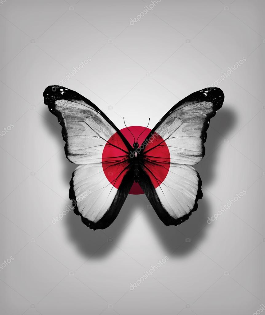 Japan flag butterfly  ...