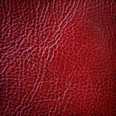 Red leather texture, abstract background — Stock Photo