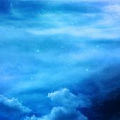 Sterren en de nachtelijke hemel als achtergrond — Stockfoto