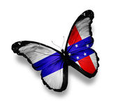 Netherlands Antilles flag butterfly, isolated on white — Stock Photo