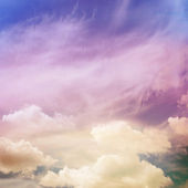 Color sky with clouds, background — Stock Photo