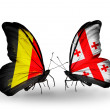 Zdjęcie stockowe: Butterflies with Belgium and Georgiflags on wings