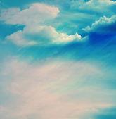 Cielo de color con nubes — Foto de Stock