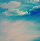 The color sky with clouds — Stock Photo