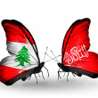 Butterflies with Lebanon and Waziristflags on wings — Stockfoto #41394077