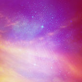 Color star sky with clouds — Stock Photo