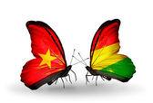 Бабочки с Вьетнамом и Боливии флаги на крыльях — Стоковое фото