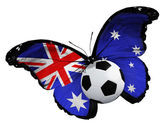 Butterfly with Australian flag and ball — Foto Stock