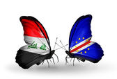 Butterflies with Cape Verde flags — Stock Photo