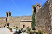 крепость в монтальчино — Стоковое фото