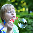 Big soap bubble — Stock Photo #12953403