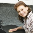 Cleaning the kitchen — Stock Photo