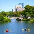 Kayaking on the Charles River Boston, MA — Stock Photo