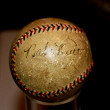 Babe Ruth Autographed baseball — Stock Photo