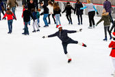 Skating at Rockefeller Center — Stock Photo