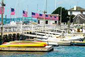 Famous Ida Lewis Marina in Historic Newport, Rhode Island — Stock Photo