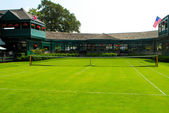 Front Court, International Tennis Hall of Fame, Newport, RI — Stock Photo