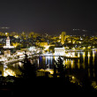 Stock Photo: Town of Split at night